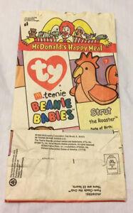 1999 Mcdonald's TY Teenie Beanie Babies Happy Meal Bag Collector Series