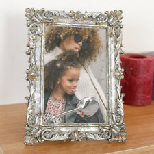 Distressed Antique Silver Victorian Style Shabby Chic Ornate Gilt Picture Frame