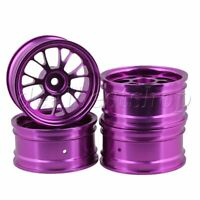 4pcs Purple Y-shape Wheel Rims For RC1:10 On Road Car& Drift Car Upgrade Parts