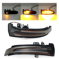Pair Dynamic LED Side Wing Mirrors Indicator Turn Signal Light For Mercedes W204