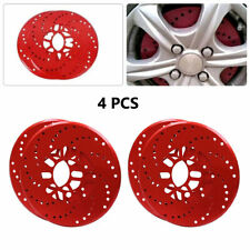 "Car Aluminum Wheel Brake Disc Cover Decorative Rotor Cross Drilled 7.4cm/ 2.9"""