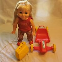Remco 1969 TUMBLING TOMBOY Doll with BOX & CAR & PURSE as-is doesn't work
