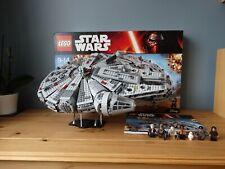 Lego Star Wars Millennium Falcon (75105) completo con soporte de exhibición-han Solo