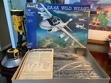 German Revell Grumman Ea-6A Wild Weasel Airplane 4570 Model Kit 1/48 Rare 1990