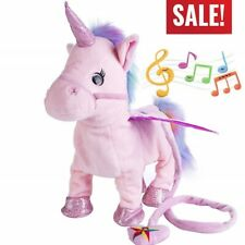 Electric Walking Unicorn Plush Toy Electronic Music Unicorn Toy for Children US