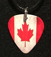 CANADIAN Guitar Pick Necklace Symbol FLAG Canada Maple Leaf