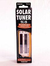 Tascam TC1SOR Solar Guitar Tuner in Orange BRAND NEW