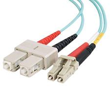 C2G 2m LC-SC 10Gb 50/125 Duplex Multimode PVC Fibre Optic Cable LSZH 85532 CAB 3