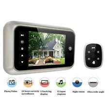 """3.5"""" LCD Digital Peephole 120° Eye Viewer Door Doorbell Video IR Camera Security"""