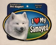 "Scandical I Love My SAYMOYED Dog Laminated Car Pet Magnet 4"" x 6"" NEW MP172"