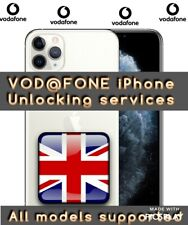Vodafone UK all iPhone XS X 8 7 6 PLUS SE unlocking service only IMEI required