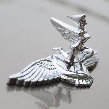 3D Auto Car Hood Ornament Badge Emblem Flight Lady Zinc Alloy Chorme