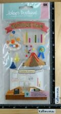 Jolee's SCIENCE FAIR Boutique Stickers 3D SCHOOL PROJECTS BEAKERS TEST TUBES