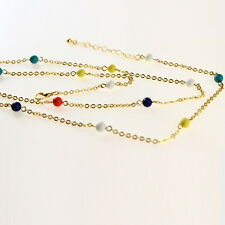 Women Bikini Beach Cross infinity Bead Belly Waist Chain Body Link Jewelry