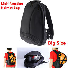 Multi-function 1x Waterproof Black Motorcycle Racing Backpack Helmet Storage Bag