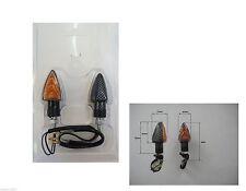 FRECCE a LAMPADA CARBON LOOK GAMBO CORTO OMOLOGATE per MOTO GAS GAS