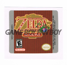 Legend of Zelda Oracle of Seasons Replacement Label Sticker Glossy Gameboy Color