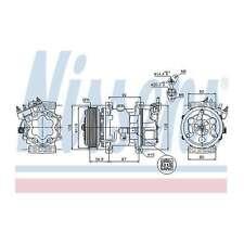 Fits Peugeot 206 1.4 HDi Genuine OE Quality Nissens A/C Air Con Compressor