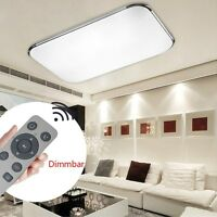 72W LED Deckenleuchte Badleuchte Kche Deckenlampe Dimmbar Wohnzimmer FB