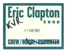 Eric Clapton 2008 - Konzert-Satin-Pass Crew vom 17.08.2008 Schönes Sammlerstück