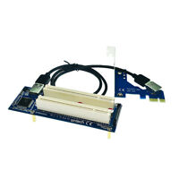 PCI-E Express X1 To 2-PCI Riser Extender Adapter Card and USB 3.0 Cable