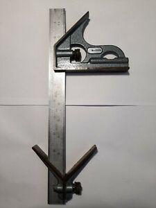 "mitutoyo vintage hardened combination machinist 12""square"