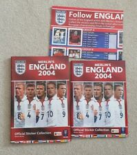 Merlins England 2004 Sticker Album and hardback cover mint condition