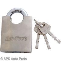 Heavy Duty 60mm Steel Padlock Precision Locking Mechanism Garage Container Door