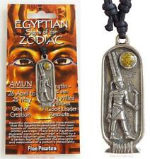 Egyptian Amun Pendant Necklace Zodiac 26 April to 25 May Taurus Gemini Jewellery