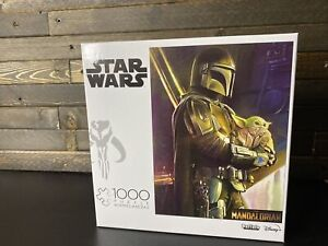 "Star Wars The Mandalorian ""Wherever I Go, He Goes"" 1000 pc Puzzle Buffalo NEW!"