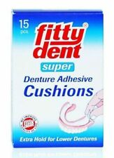 Fittydent Denture Adhesive Cushions 15 Strips Firm Hold for Lower Dentures