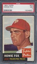 1953 Topps #22 Howie Fox PSA 7 NM Philadelphia Phillies