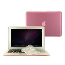"""3 in 1 Rubberized PINK Case for Macbook AIR 11"""" A1370 + Key Cover + LCD Screen"""