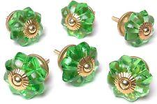 vert en forme de fleur coupe verre (cuivre) Tiroir & poignées de placard x 6