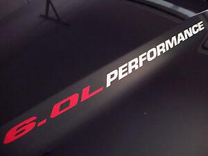 6.0L PERFORMANCE (pair) Hood sticker decals 2019 GMC Sierra 2500 HD Silverado