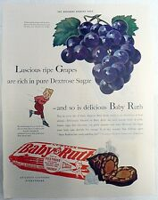 1940 BABY RUTH CANDY BAR ONE PAGE MAGAZINE AD