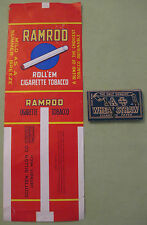 Antique LA + Wheat Straw Cigarette Paper & Ramrod Rollem Cigarette Tobacco Label