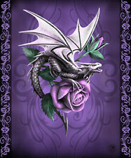 ANNE STOKES DRAGON BEAUTY ROSE GOTHIC FANTASY QUEEN SIZE BLANKET