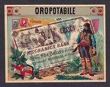 ETICHETTA VINO ORO POTABILE 02 CANADA FIVE DOLLARS - WINE LABEL