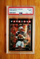 2008 Topps Chrome #163 Tom Brady Patriots PSA 9 MINT