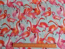 Flamingo Tropical Birds Digital Print Heavy Cotton Furnishing Fabric 150cm wide