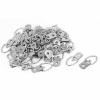 32mmx15mm Single Hole D-Ring Picture Photo Frame Hanging Hanger Hook 50pcs