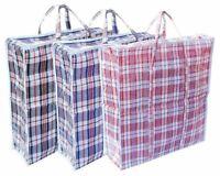 10 Jumbo Laundry Bags Zipped Reusable Large Shopping Bag Storage Bag With Handle