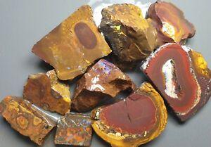 Boulder Opal Rough & Slab Parcel Yowah Solid Natural Lapidary Specimen 366 Grams