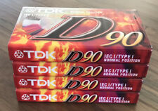 TDK D90 IEC/Type I New Sealed Cassette Tapes X 4