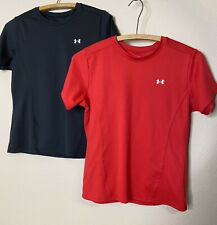 Lot Of 2 Under Armour Red & Black Women's Tees Size Small