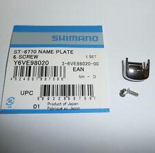 1 x GENUINE SHIMANO ULTEGRA 6770 STI NAME PLATE with screw 10sp GEAR