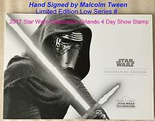 Royal Mail 2017 Star Wars Celebration Exclusive Malcolm Tween *SIGNED Stamp Pack