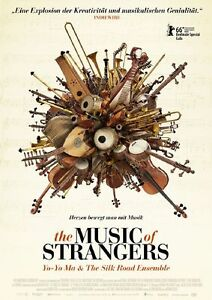 Yo Yo Ma Silkroad Ensemble THE MUSIC OF STRANGERS Original Filmplakat A1 GEROLLT