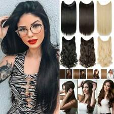 100% Natural Secret Wire One Piece Halo Hair Extensions Real Thick As Human AU
